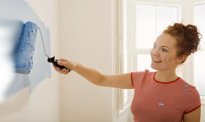 C mo pintar sobre el empapelado - Papel para paredes con gotele ...