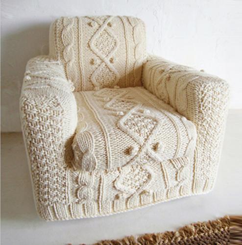 Cojines tejidos a dos agujas imagui - Cojines de lana ...
