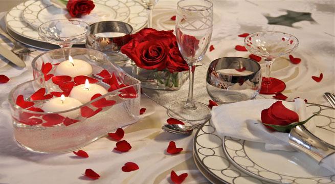 Decorar la mesa para una cena rom?ntica~ Decoracion Romantica De Aniversario De Novios