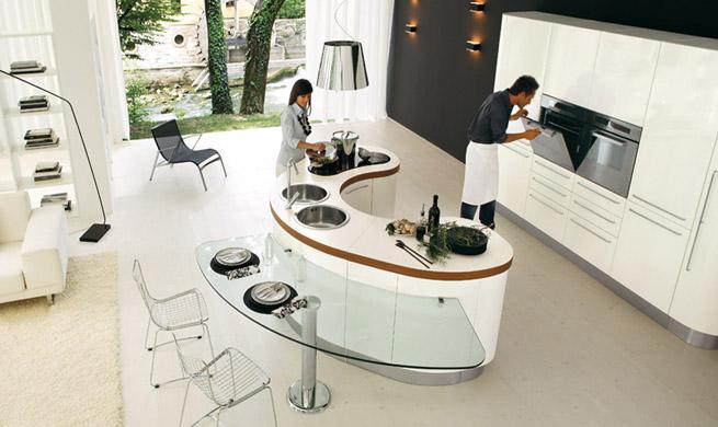 Islas de cocina de formas curvas - Cocinas espectaculares modernas ...