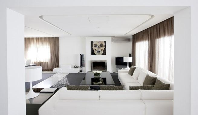 Apartamento decorado con arte contempor neo - Interiorismo y decoracion moderna ...