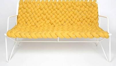 Muebles tejidos con lana y agujas for Sofas y punto