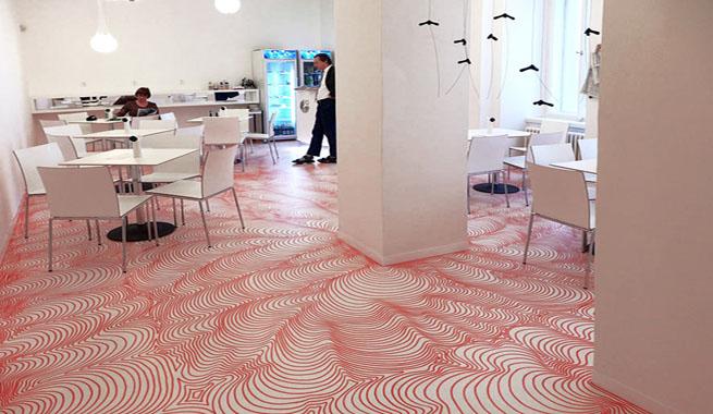 Suelo pintado con rotulador permanente for Papel pintado suelo