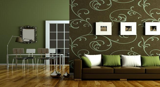 Combinar papel pintado y pintura - Combinar papel pintado y pintura ...
