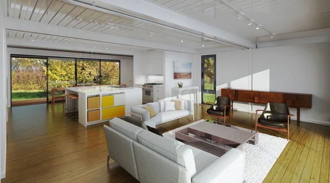 C mo decorar casas prefabricadas - Interiores de casas prefabricadas ...