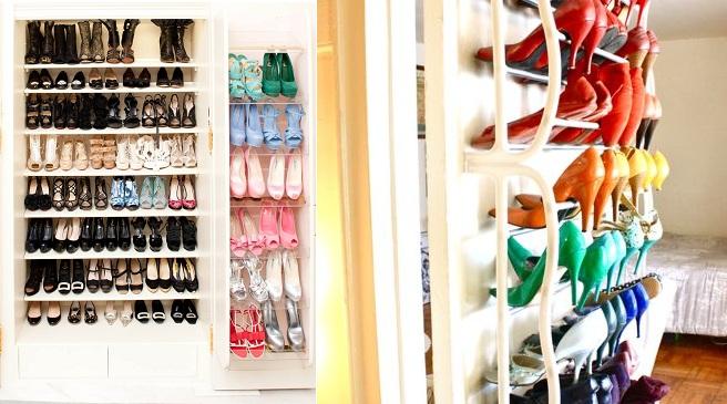 C mo guardar los zapatos en el armario for Mueble para guardar zapatos madera