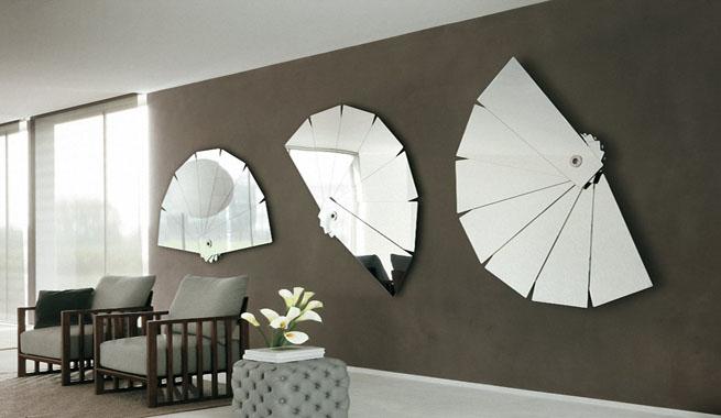 Decorar con grupos de espejos - Espejos para decorar paredes ...
