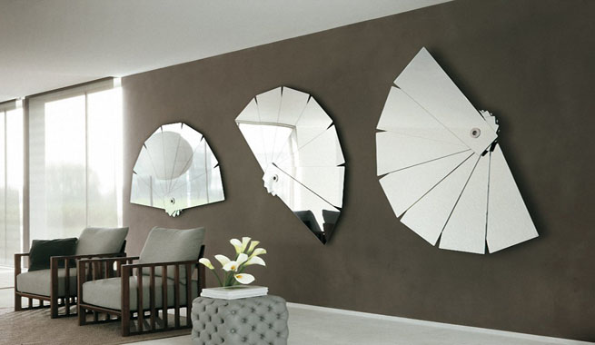 Espejos abanico