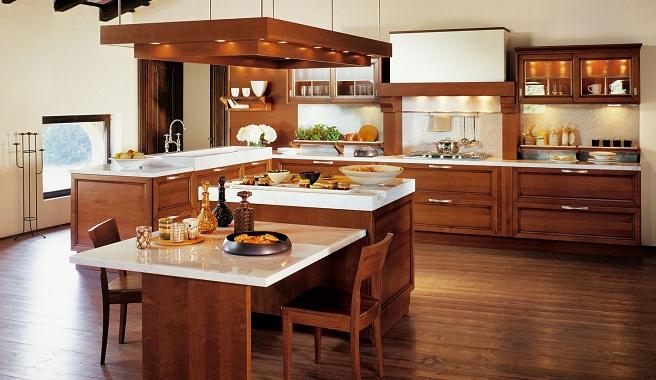 decoracion de interiores rustica moderna:Escoge madera para tu cocina