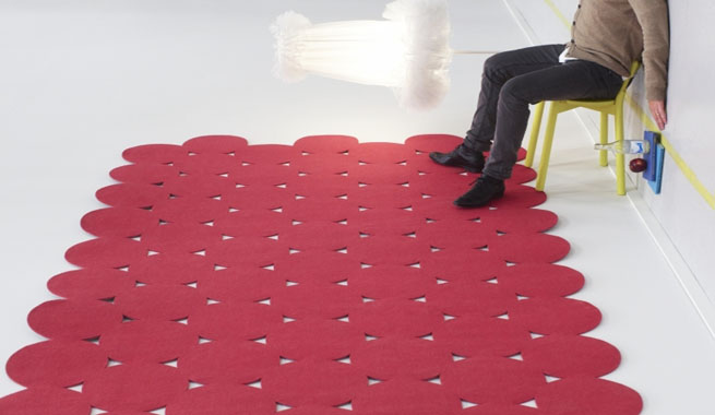 Decora la casa con alfombras recortadas for Alfombras redondas ikea