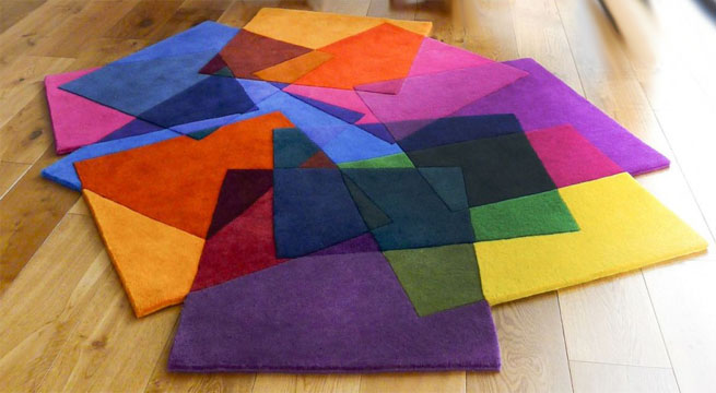 Decora la casa con alfombras recortadas for Alfombras de colores