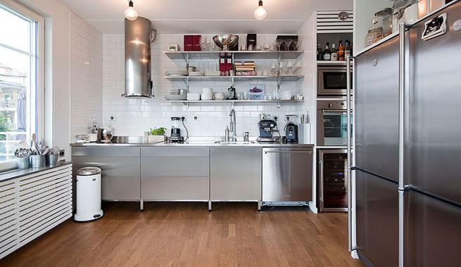 Apartamento en Estocolmo: un espacio en blanco