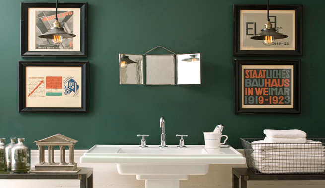Decorablog revista de decoraci n - Pintura pared verde ...