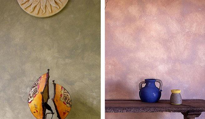 Mezclar pinturas para crear efectos decorativos - Efectos pintura paredes ...
