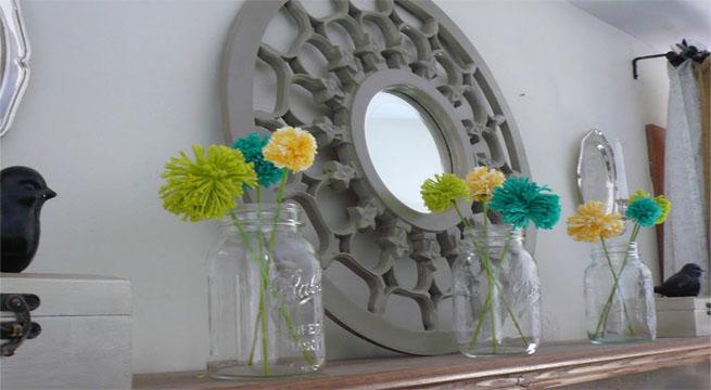 decoracion primaveral repisa