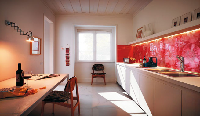 Ideas para revestir el salpicadero de la cocina - Papel de vinilo para cocinas ...