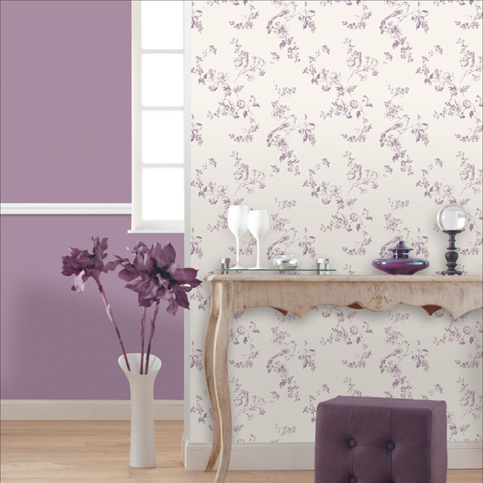 Leroy merlin papel pintado flores purpura for Papel leroy merlin