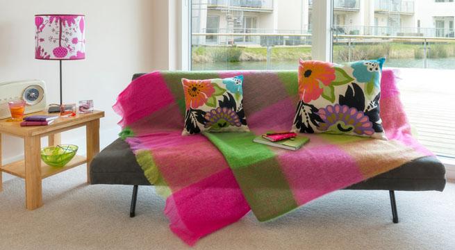 Mantas y plaids para la primavera for Plaids para sofa