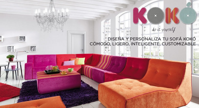 Koko by kibuc dise a y personaliza tu sof - Disena tu salon ...