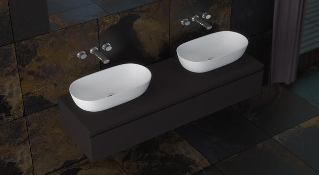 Baños Bonitos Elegantes:Lavabos sobre encimera, los más elegantes