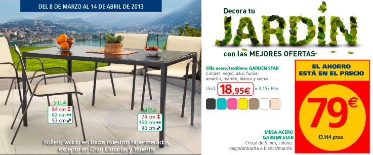 Cat logo alcampo de muebles de jard n 2013 for Decoracion jardin alcampo
