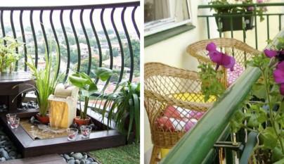 balcon fuente y mimbre