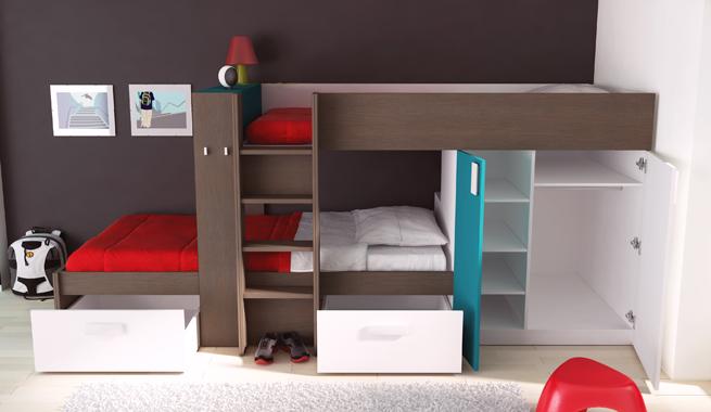 Dormitorio infantil con literas dormitorios t dormitorios - Habitaciones infantiles tren ...