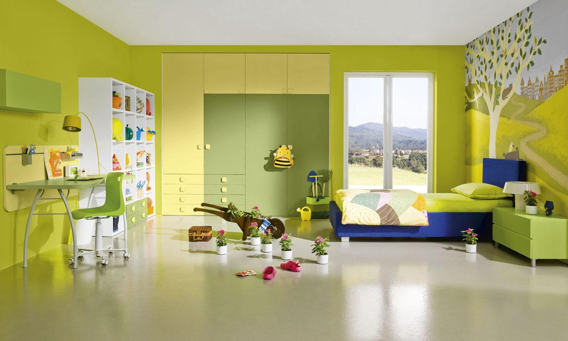 Dormitorio amarillo - Color marfil en paredes ...
