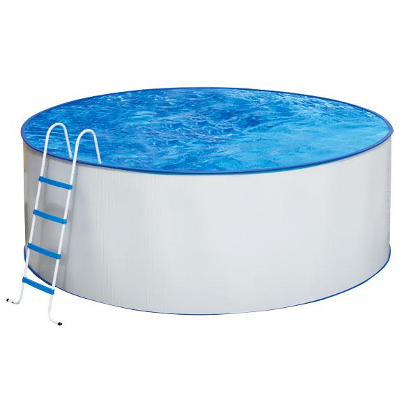 Piscina redonda acero blanca for Limpiafondos piscina leroy merlin