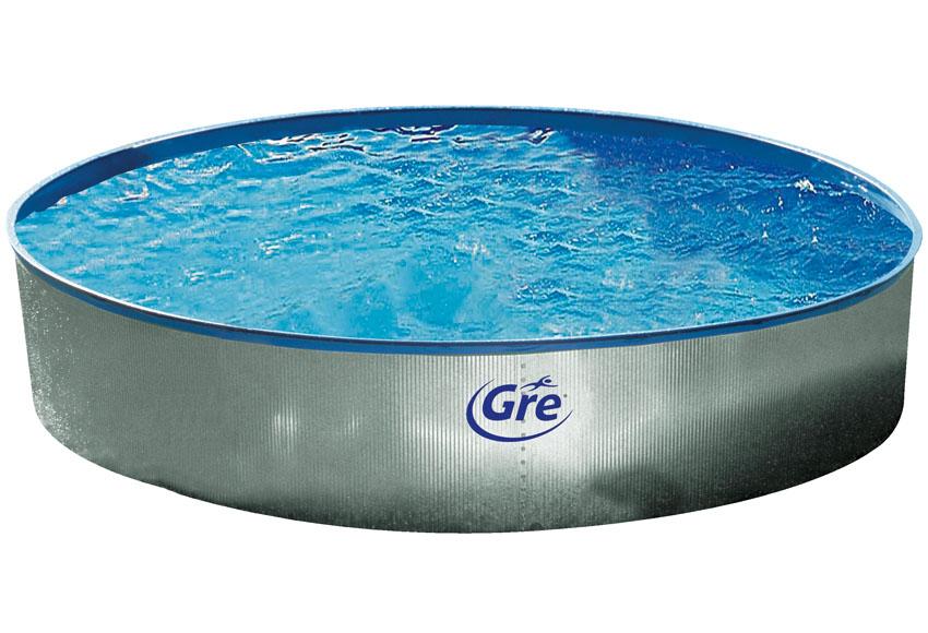 piscina redonda acero galvanizada. Black Bedroom Furniture Sets. Home Design Ideas