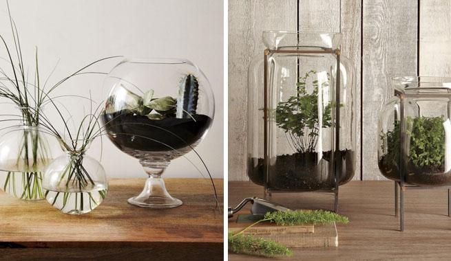 Decorar con terrarios de cristal - Como decorar copas de cristal ...