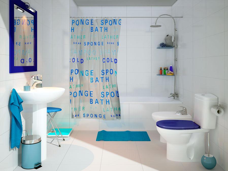 Decorar Un Baño Azul:Diferentes estilos para decorar un baño con Leroy Merlin