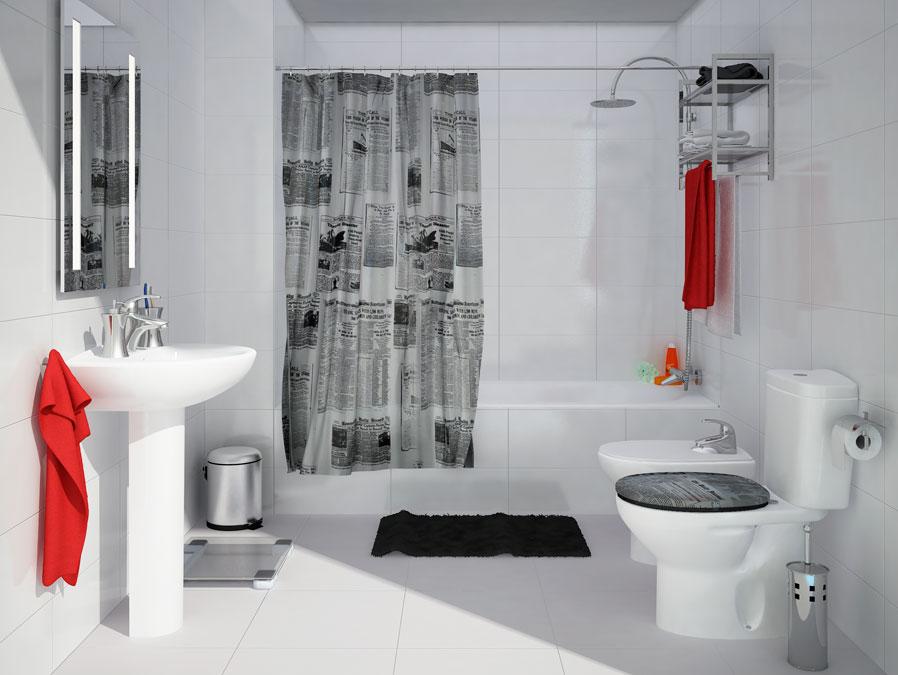 Diferentes estilos para decorar un ba o con leroy merlin for Accesorios para bano papel higienico