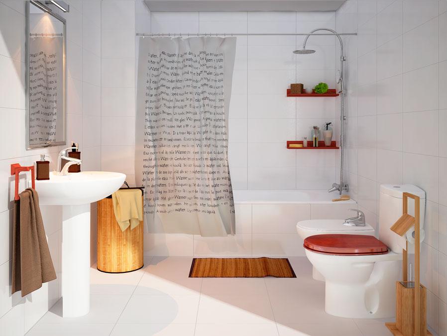 Baño Estilo Colonial:Diferentes estilos para decorar un baño con Leroy Merlin
