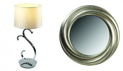 lampara gala espejo mileto oro
