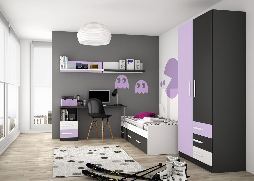 Decoracion de paredes de habitaciones juveniles con cosas - Habitaciones juveniles muebles rey ...