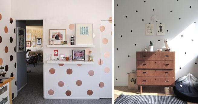 Decorar paredes con lunares - Decorar pared fotos ...