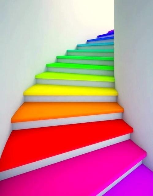 Escaleras pintadas muy originales - Pintura para escaleras ...