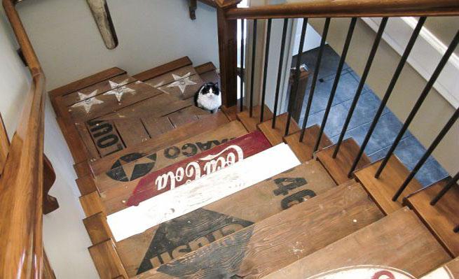es perfecta para escaleras antiguas que estn ya que su aspecto desgastado casa con el estilo industrial que queremos obtener