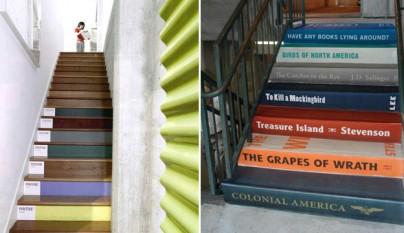 Escaleras pantones libros