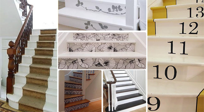 Escaleras pintadas muy originales for Paredes pintadas originales