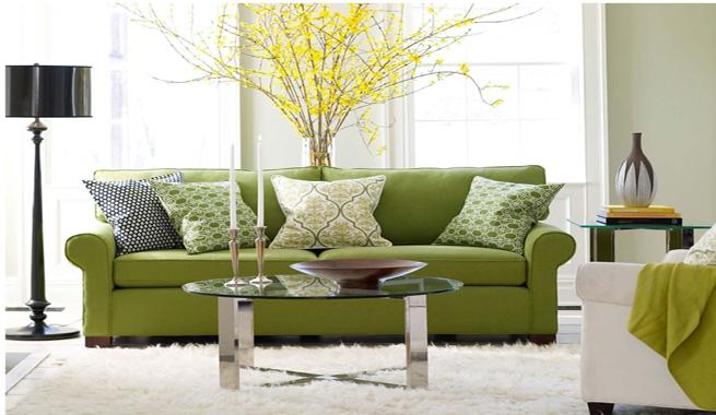Decorar con tonos verdes - Telas para tapizar paredes ...