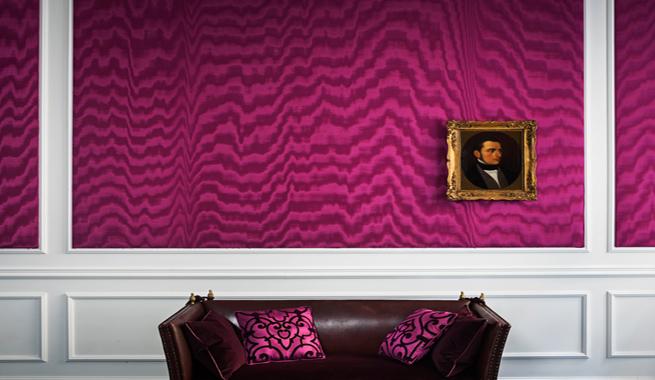 Paredes enteladas otra vez de moda - Decorar paredes con telas ...