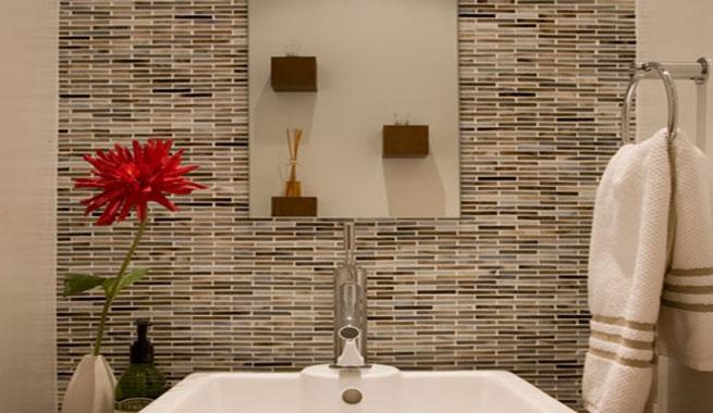Decoracion Baño Rectangular:Cómo alicatar el baño de forma original (3/5)