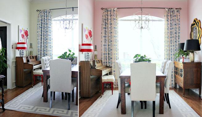 Comedor en rosa y rojo: espectacular