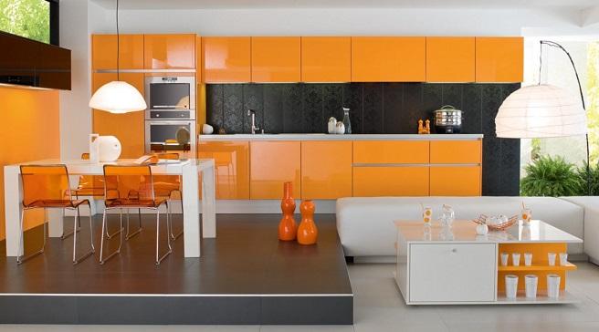 C mo conseguir una cocina moderna - Cocinas con colores vivos ...