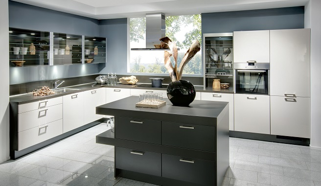 Consejos para integrar los electrodom sticos en la cocina - Cocinas con electrodomesticos blancos ...