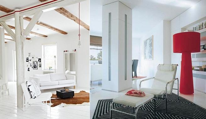 Ideas para integrar columnas en la decoraci n - Como decorar una columna en el salon ...