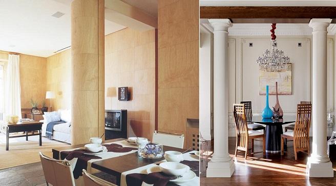 Ideas para integrar columnas en la decoraci n - Decoracion columnas salon ...