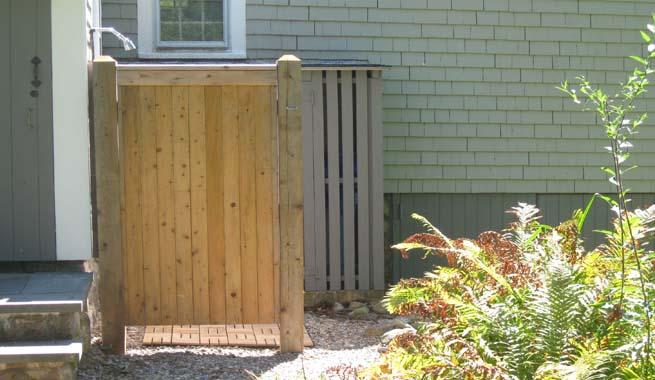 Ducha madera cabina - Duchas exterior ...